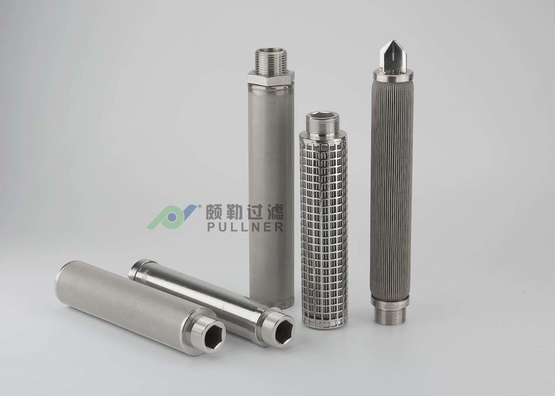 120℃ Stainless Steel Mesh Water Filters SS 304 016L Pleated Customerized OD